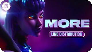 Download K/DA ~ MORE [feat. Madison Beer, (G)I-DLE, Lexie Liu, Jaira Burns, Seraphine] ~ Line Distribution