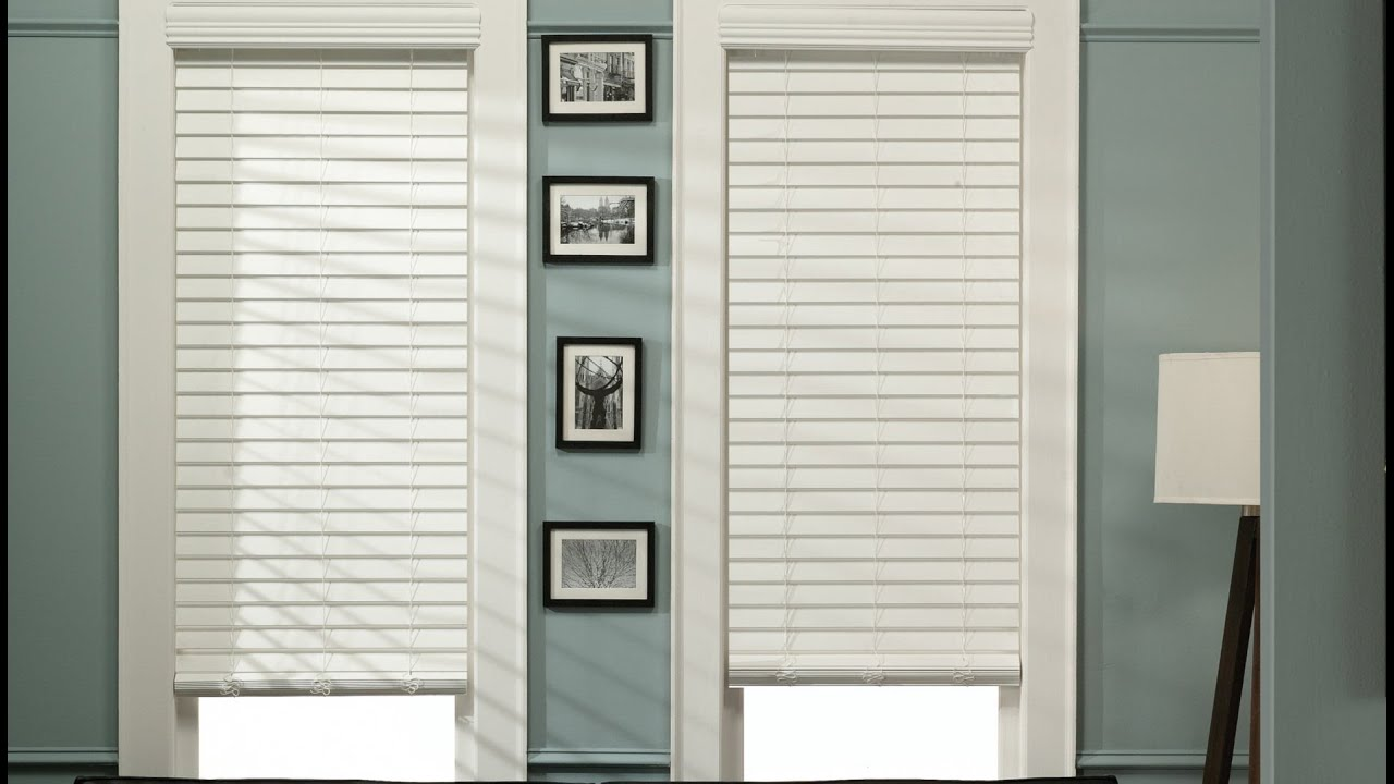 1 12 Cordless Faux Wood Blinds YouTube