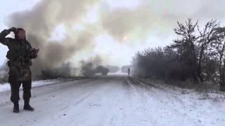 Видео с передовой Дебальцевский котел видео боя дебальцево