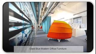 Used Blue Modern Office Furniture