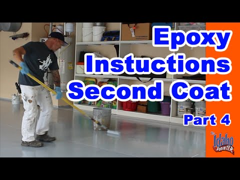 Epoxy Application Tips.  How to apply garage floor epoxy with color flakes.