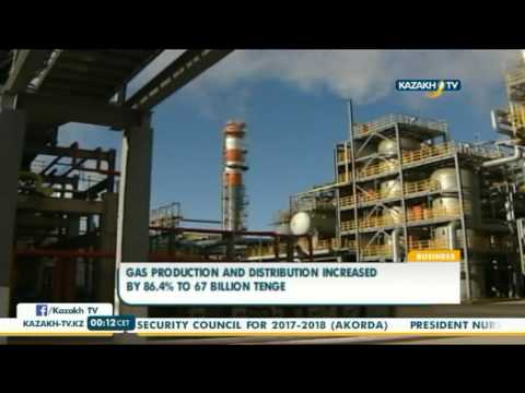 Gas production and distribution increased by 86.4% to 67 bln tenge - Kazakh TV