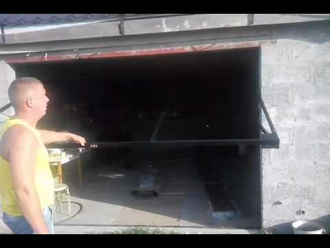 видео: Подъёмно поворотные ворота системы z