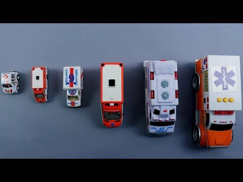 Learn Sizes Of Ambulance For Kids Children Babies Toddlers | Big And Small Ambulance | Ambulance