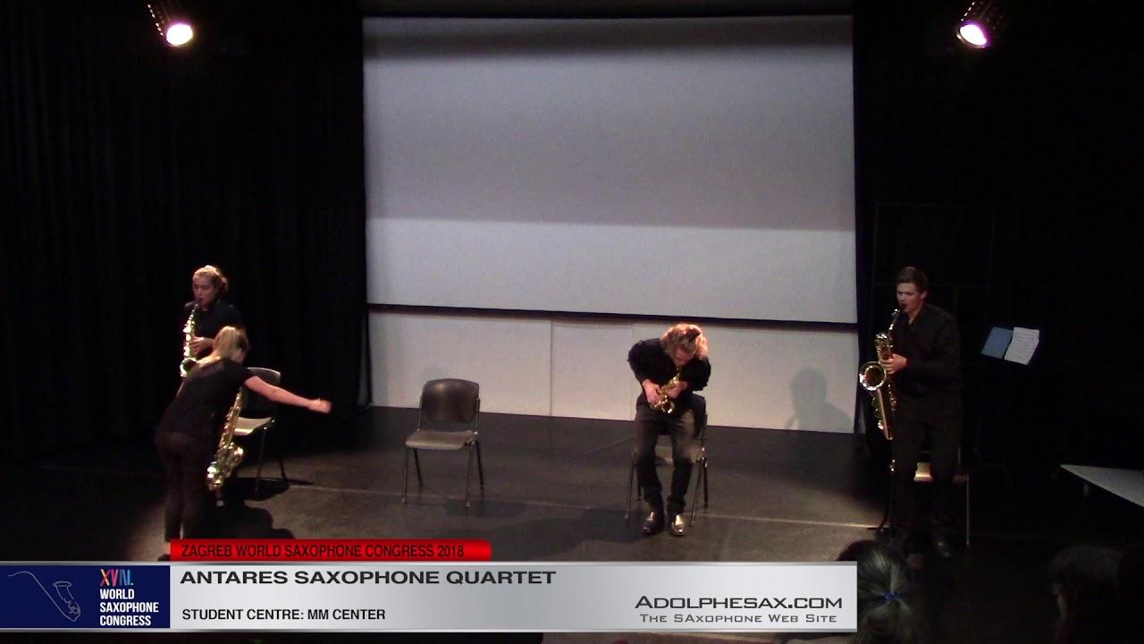 Tango Virtuoso by Thierry Escaich    Antares Saxophone Quartet   XVIII World Sax Congress 2018 #adol