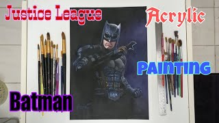 HOW TO PAINT JUSTICE LEAGUES BATMAN/PAINTING DC COMICS SUPERHEROES IN. ACRYLIC SERIES #1