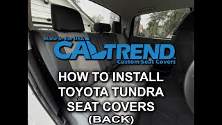 How to install Toyota Tundra 2014–21 Back Seat Covers  CalTrend