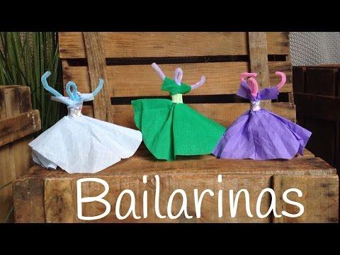 Manualidades con limpiapipas para niños, unas preciosas bailarinas para no dejar de bailar