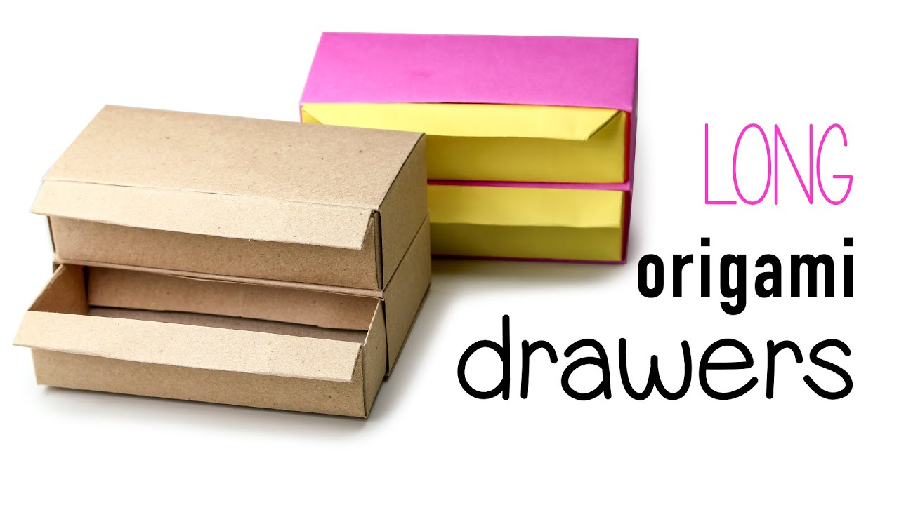 Origami Drawers Tutorial Long Version Diy Youtube