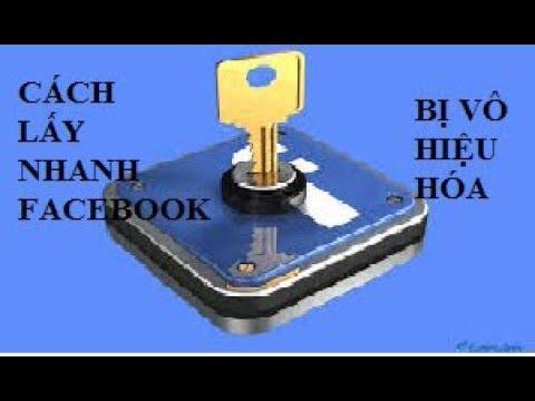 Cách lấy lại tài khoản facebook bị vô hiệu hóa – mới nhất