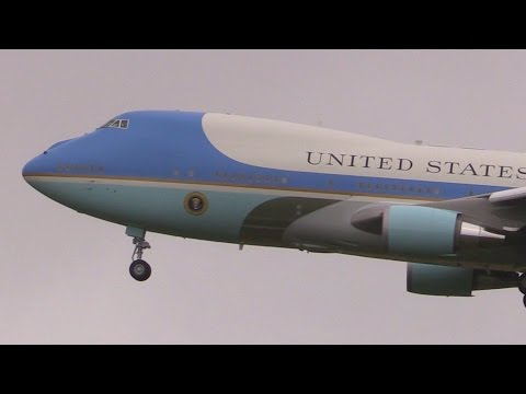 "ᴴᴰ ✈ The ""Air Force One"" at Hannover (Germany) 24.04.2016"