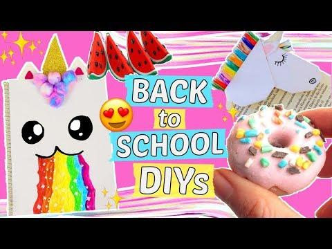 3 coole BACK TO SCHOOL DIYS😍SCHULSACHEN selber machen ✨EINHORN DIY Ideen, Hacks & Ideen! 🦄