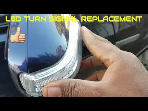 HOW TO REPLACE ACURA HONDA  MIRROR LED TURN SIGNAL TUTORIAL