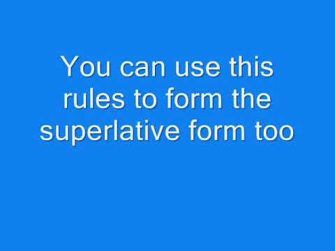 Comparative and superlative adjectives song - YouTube