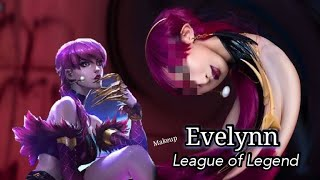 Evelynn K/DA - League of Legend ( MAKEUP ) by Irene01