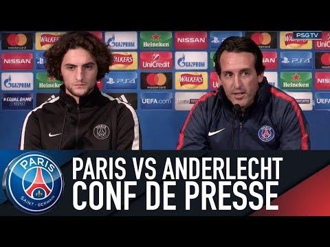 Paris Saint-Germain press conference PARIS SAINT-GERMAIN vs ANDERLECHT