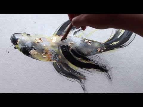WATERCOLOR AND INK TUTORIAL | KOI FISH PAINTING | WET TO WET TECHNIQUE