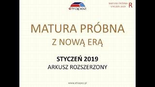 Matura próbna NOWA ERA styczeń 2019 matematyka. Arkusz rozszerzony