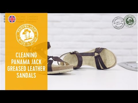 How to clean your Panama Jack greased leather sandals