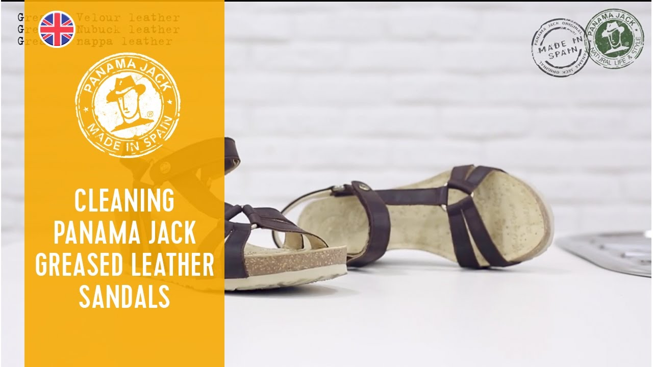 c280f554370248 How to clean your Panama Jack greased leather sandals - YouTube