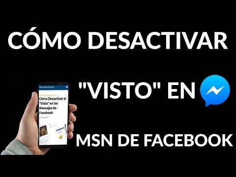 Cómo Desactivar Visto en los Mensajes de Facebook