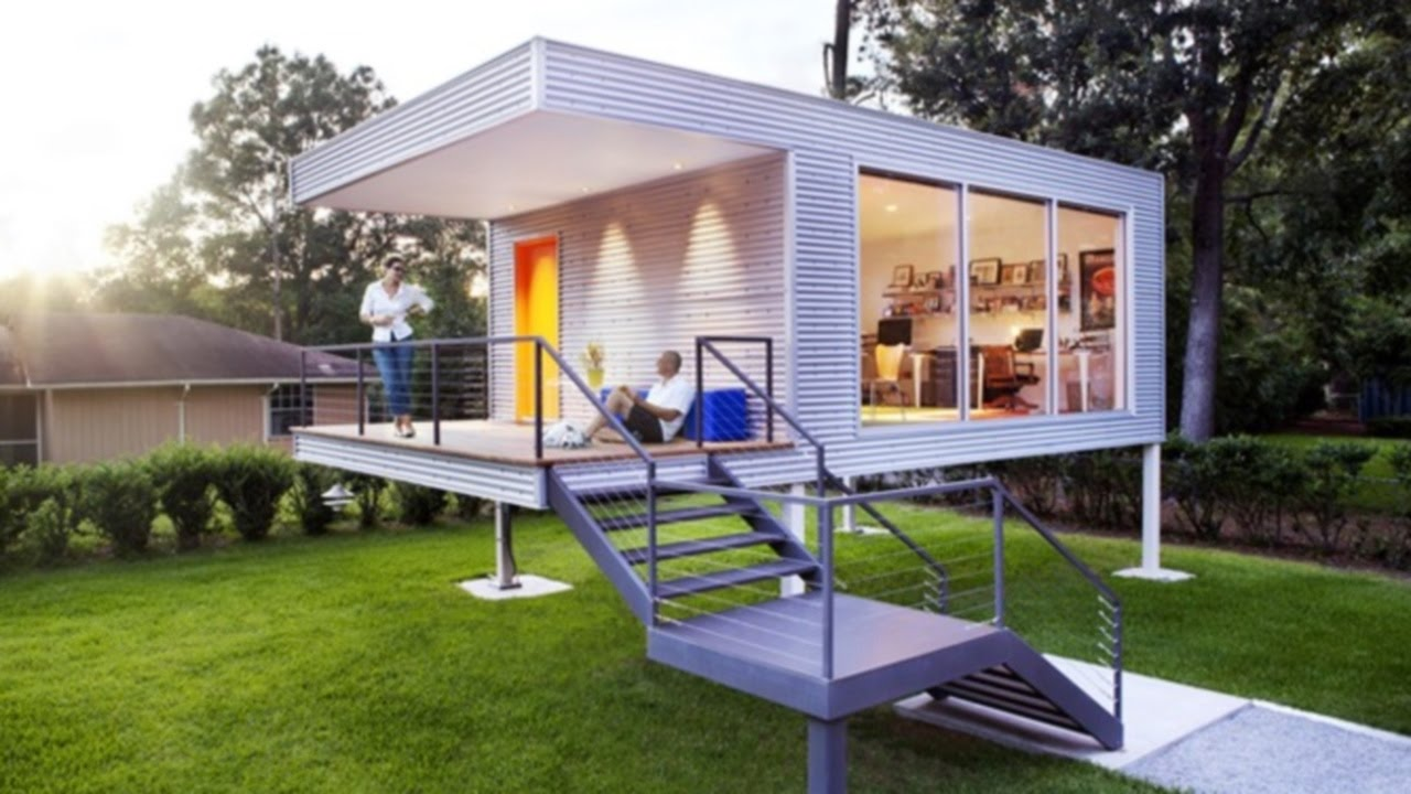 Prefab Homes Set on Stilts, Cool, New Prefab Homes - YouTube