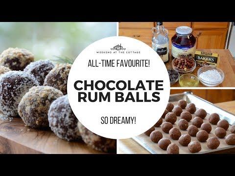 Heavenly CHOCOLATE RUM BALLS