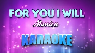 Monica - For You I Will(Karaoke version with Lyrics)