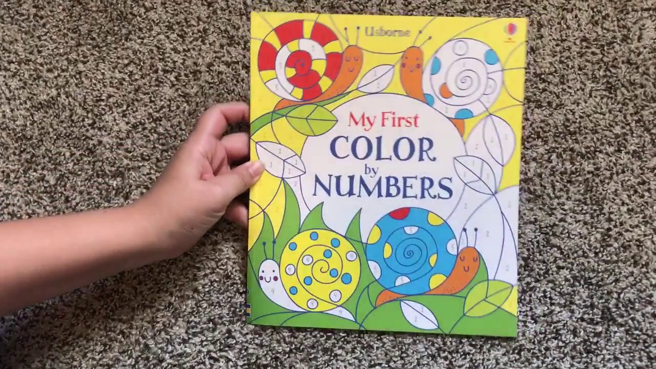 My First Color By Numbers 📚 Usborne Books & More - YouTube