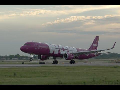 WOW air STL Inaugural Flights May 2018