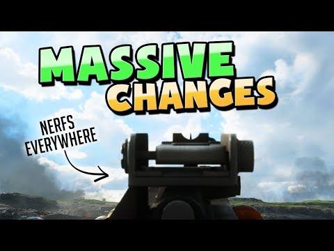 Battlefield 5: HUGE GUN CHANGES + MORE // 5.2 Update (TTK Nerf) Patch Notes // Battlefield V (BF5)