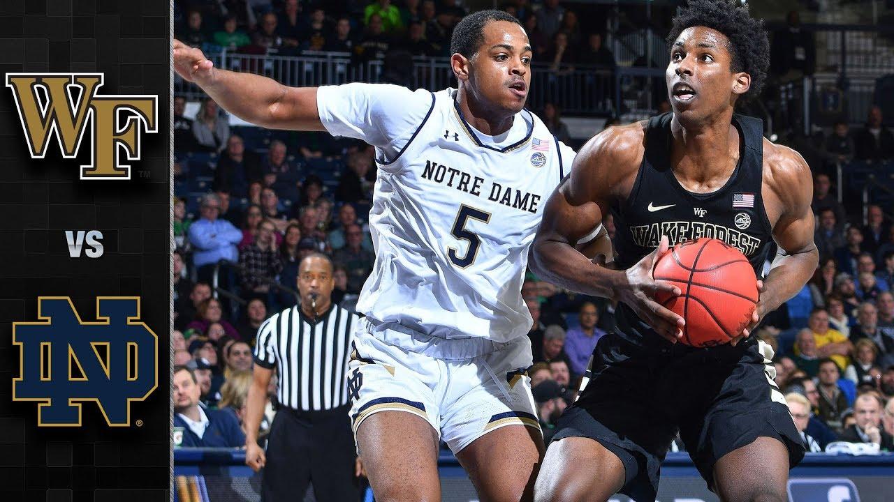 Wake Forest vs. Notre Dame Basketball Highlights (2018-19)