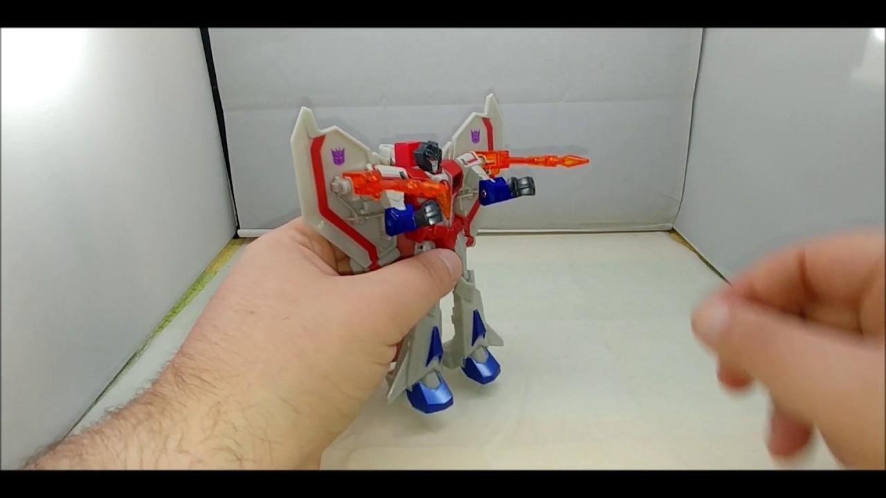Chuck's Reviews Transformers Cyberverse Warrior Class Starscream and Hammerbyte