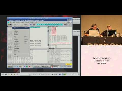 DEF CON 16 - Mati Aharoni: BackTrack Foo - From bug to 0day