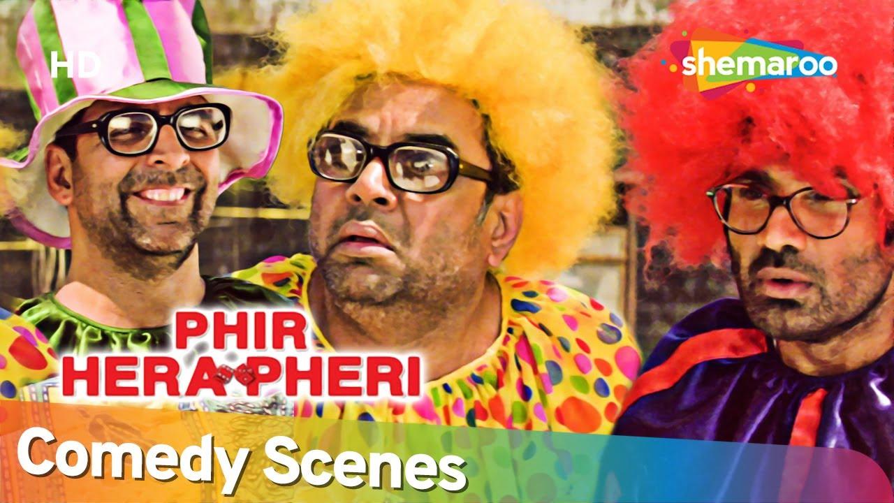 Phir Hera Pheri   अक्षय कुमार परेश रावल सुनील बना गए जोकर   Best Comedy Scenes   Johny Lever
