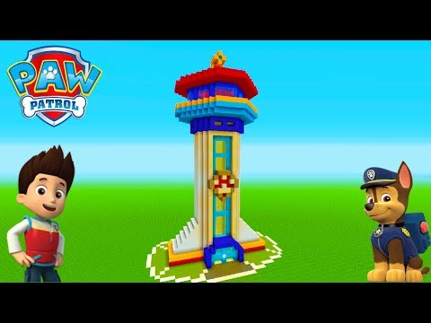 "Minecraft Tutorial: How To Make The Paw Patrol Headquarters ""Paw Patrol"""