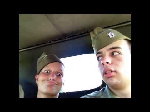 WWII Jeep ride with friends at DDAY Conneaut Ohio Reenactment 2014