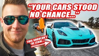 *SUPERCAR SLAYER* STREETSPEED717 1000HP ZR1 CORVETTE DESTROYS OUR PORSCHE GT2RS & MCLAREN 720S!