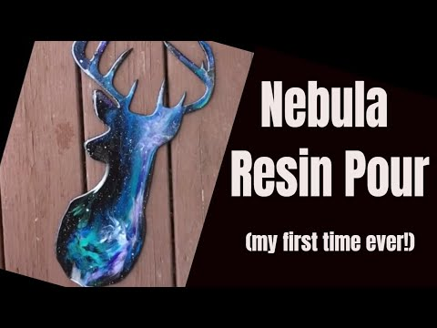 20. Nebula Deer Resin Pour // Dryer Days first time ever Stag Galaxy pour