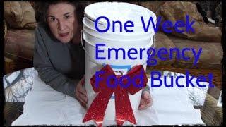 One Week Emergency Food Bucket