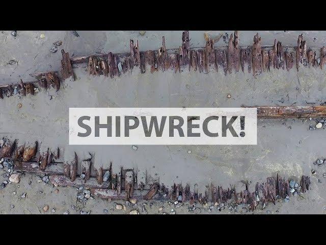 York Beach Shipwreck!
