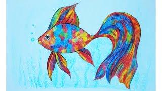 Уроки рисования. Как нарисовать РЫБКУ мультицветными карандашами  ArtBerry How to draw a fish(Больше полезной информации о карандашах ArtBerry можно увидеть здесь http://artberrypromo.ru/catalog ▻ Скачайте видео урок..., 2016-09-11T22:30:21.000Z)