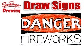 How to draw a Danger Sign