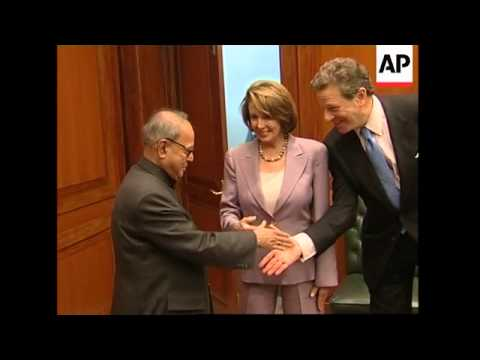 Pelosi leads US delegation on visit, meets Indian PM Singh