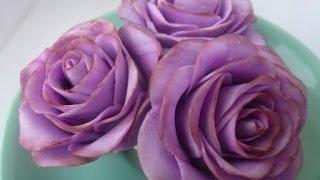 Розы из мастики.  Мраморные розы(В этом видео вы найдете ответы на вопросы: Как сделать розы из мастики. Как сделать мраморную мастику. Как..., 2015-06-20T07:39:00.000Z)