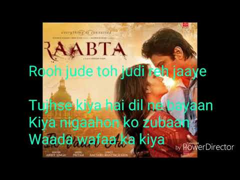 Raabta song with lyrics
