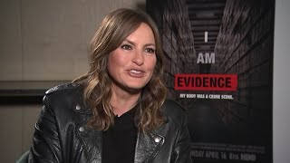 Mariska Hargitay holds back tears promoting doc