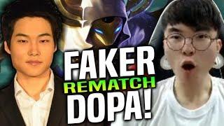 FAKER vs DOPA *REMATCH!* - SKT T1 Faker Kassadin vs Dopa Malzahar! | Be Challenger