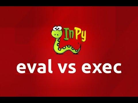 eval vs exec in Python