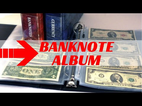 DIY BANKNOTES COLLECTION ALBUM - How to make your own currency album for storing paper money